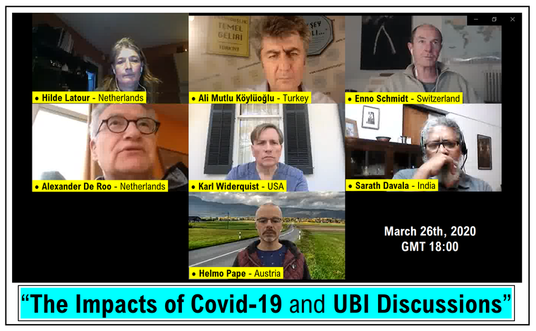 Impacts of Covid 19 and UBI Discussions - March 26th 2020