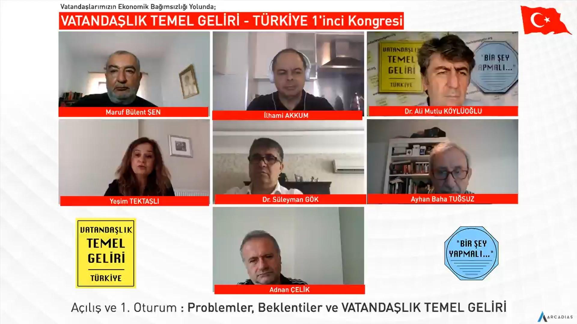 VATANDAŞLIK TEMEL GELİRİ - TÜRKİYE 1'inci Kongresi - 16 Mayıs 2020 - Açılış ve 1. Oturum - Problemler, Beklentiler ve VTG