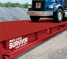 Rice Lake Survivor ATV portable truck scale