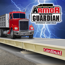 ARMOR® Concrete Deck Truck Scales with Guardian® hydraulic load cells