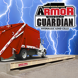 ARMOR® Steel Deck Truck Scale with Guardian® hydraulic load cells