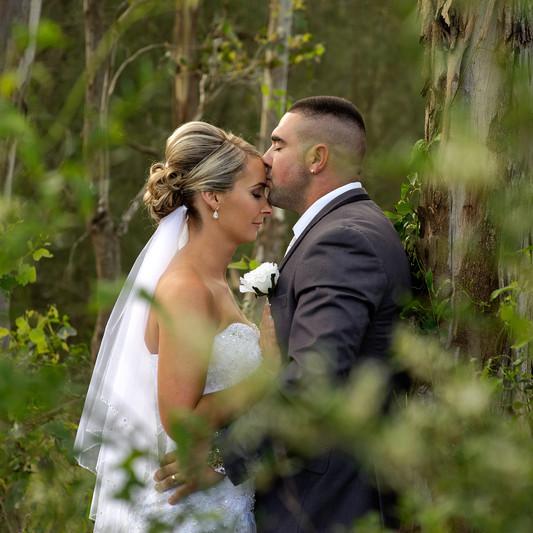 Woodland Wedding Newlyweds