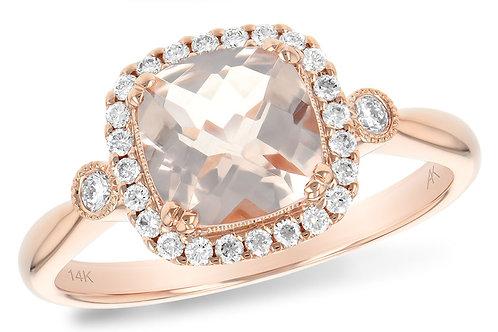 Rose Gold and Morganite Ring