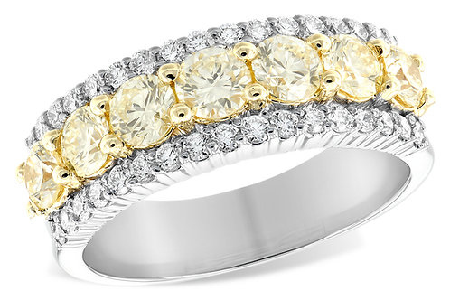 14 Kt. Two-Tone Yellow & White Diamond Band