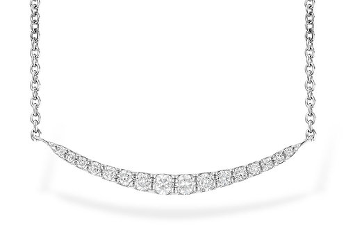 14 Kt. White Gold & Diamond Bar Necklace