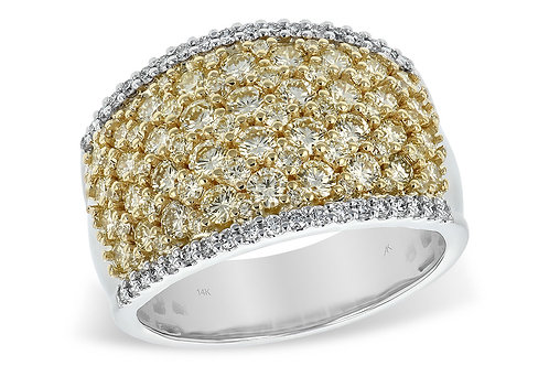 14 Kt. Two-Tone Gold Yellow Diamond Band