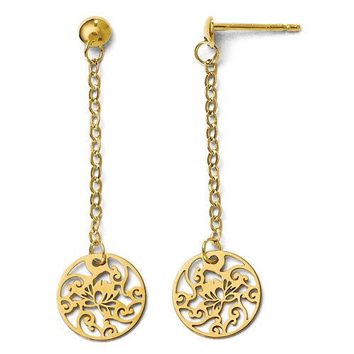 14 Kt. Yellow Gold Dangle Earrings
