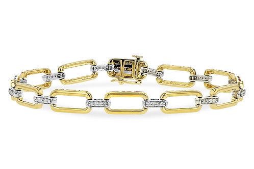 14 Kt. Two-Tone Gold and Diamond Bracelet