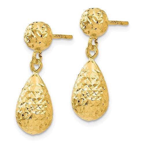 14 Kt. Yellow Gold Drop Earrings
