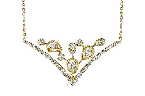 14 Kt. Yellow Gold and Diamond Fashion Necklace