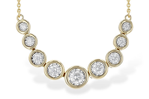 14 Kt. Yellow Gold & Diamond Fashion Necklace