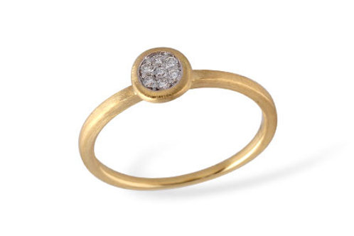 14 Kt. Yellow Gold and Diamond Cluster Ring