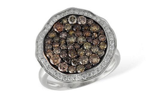 Diamond Pave' Cluster Ring