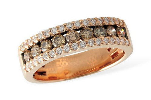 14 Kt. Rose Gold & Cognac Diamond Band
