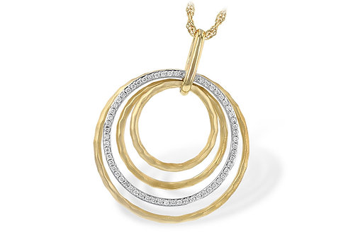 14 Kt. Two-Tone Gold & Diamond Circle Necklace
