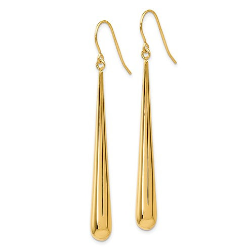 14 Kt. Yellow Gold Elongated Drop Earrings