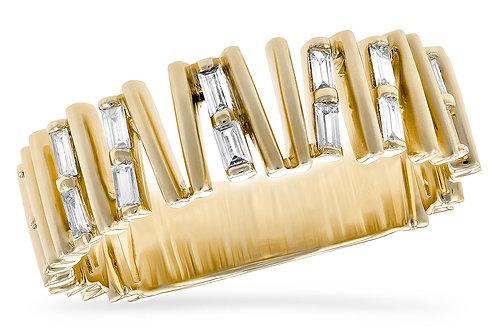 14 Kt. Yellow Gold and Diamond Fashion Band