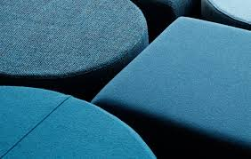 Custom seating poufs