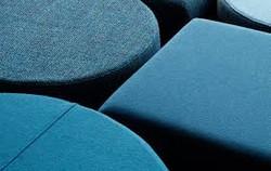 Custom seating poufs