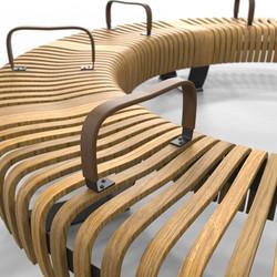 Nova C Bench with armrest