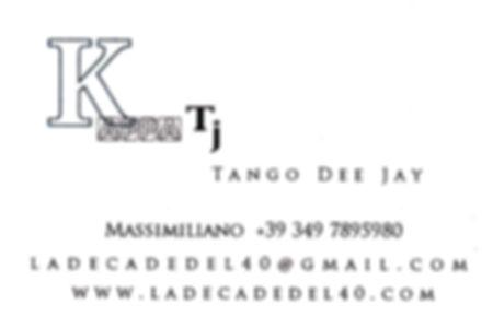 In Milonga con Kappa Tj Tango Dee Jay