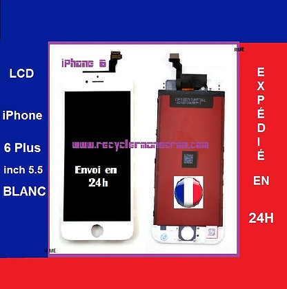 Ecran LCD+Vitre tactile iPhone 6 Plus Blanc 5.5