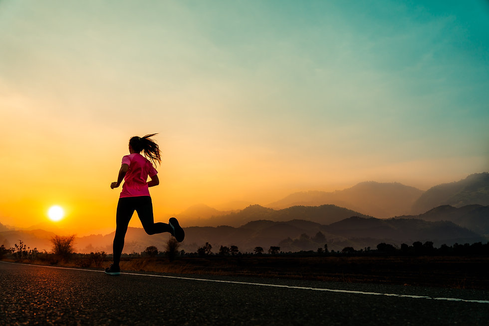 young-woman-enjoys-running-outside-with-
