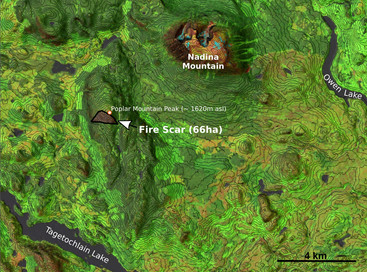 Fire Mapping with false-color satellite imagery RGB composite