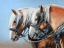 Painting of a draft horse