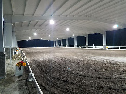 Dressage arena at night
