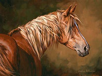 Painting of chestnut colored horse