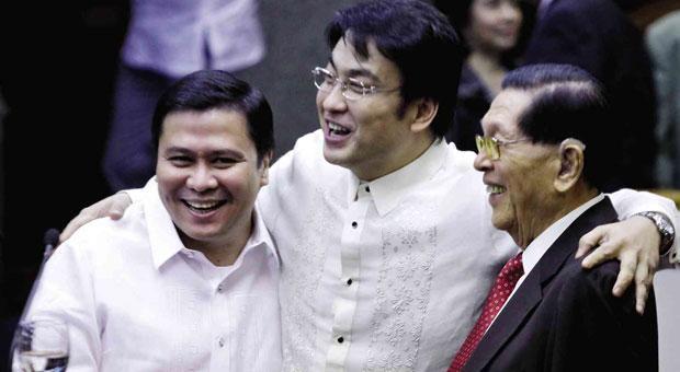 Jinggoy Estrada, Bong Revilla at Juan Ponce Enrile