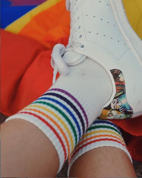 Rainbow socks from The Gay Agenda PH.