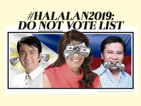 #Halalan2019: Do NOT Vote List