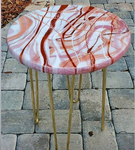 Epoxy Resin Accent Table