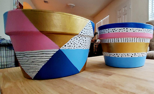Made to Order Painted Terracota Pot
