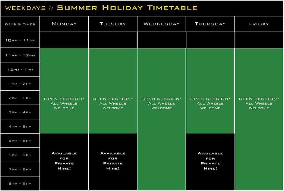 Weekday Summer Holiday Timetable 2019.jp