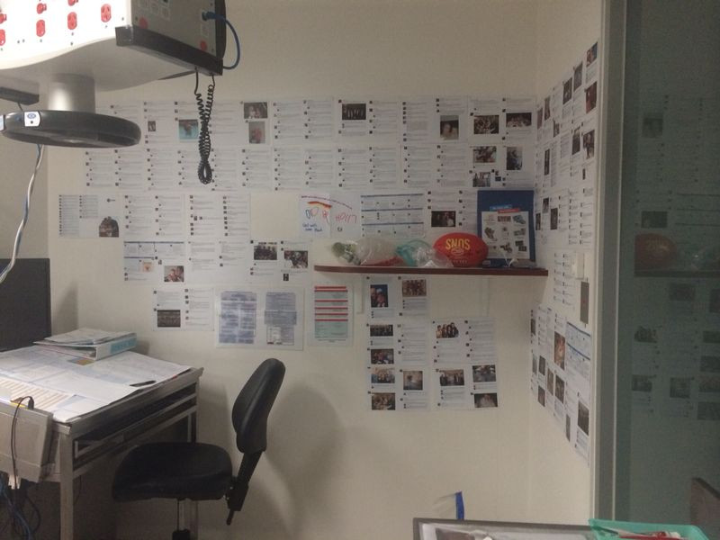 My ICU room at Alfred Hospital and Facebook messages in the room.