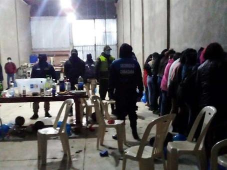 Intervención En Fiesta En Colcapirhua Pese A La Normativa Que Se Dio Por El Gobierno Nacional