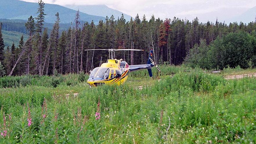 AVIATION-chopper-in-field