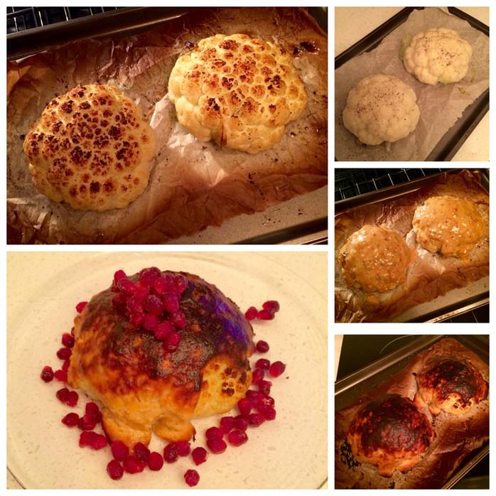 Roasted Cauliflower with a Tahini Glaze