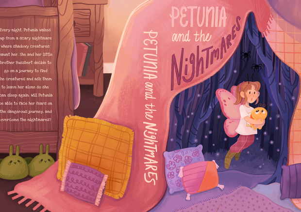 Petunia and the Nightmares Book Cover Illustration