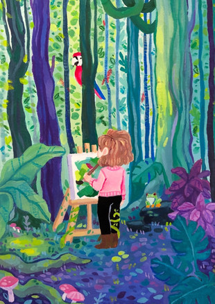 Painting in the Rainforest