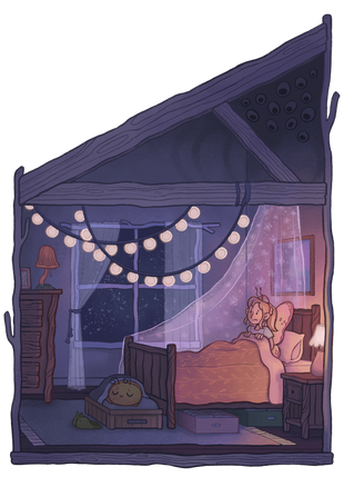 Petunia and the Nightmares Page Illustration