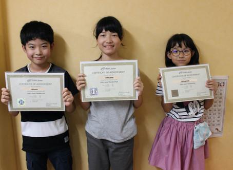 TOEFL Jr.でアフタースクール生3人がGOLDを獲得!