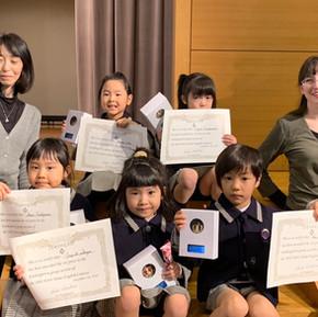 第18回ノートルダムイングリッシュコンテスト幼児団体の部で2位と1位を受賞しました!