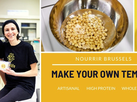 Beanlife participates in NOURRIR BRUSSELS Festival: Make Your Own Tempeh workshops!
