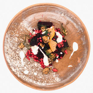 Ferme beetroot and lemon salad