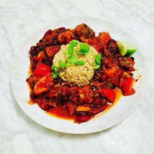 Black tempeh chilli sin carne