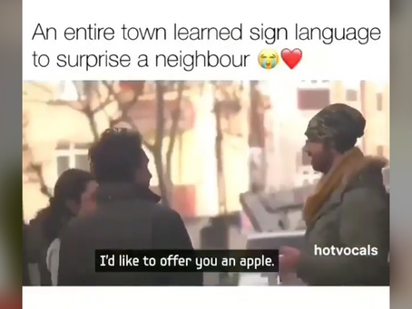 A whole town learns sign language and the reason will make you cry